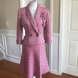 Liz Claiborne fit and flare skirt suit Size 6
